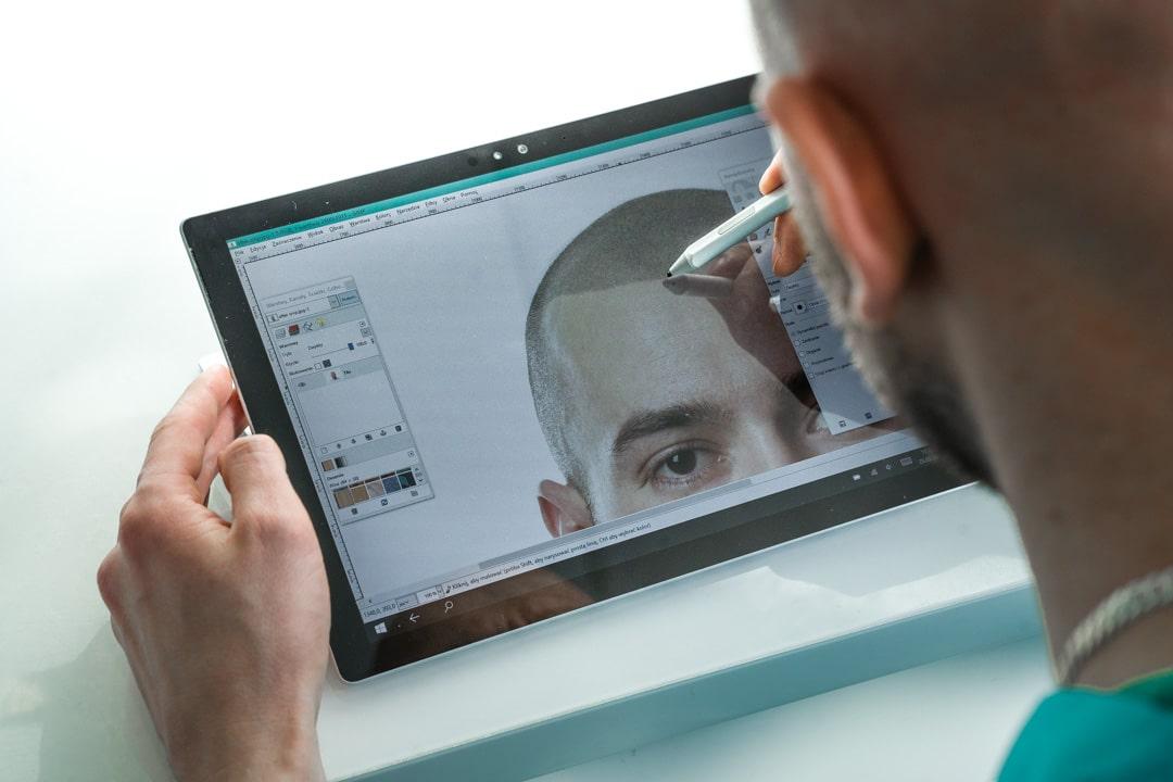 Wizualizacja wyglądu po zabiegu mikropigmentacji włosów